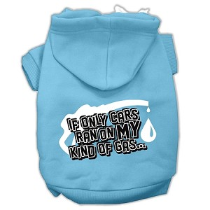 My Kind of Gas Screen Print Pet Hoodies Baby Blue S (10)